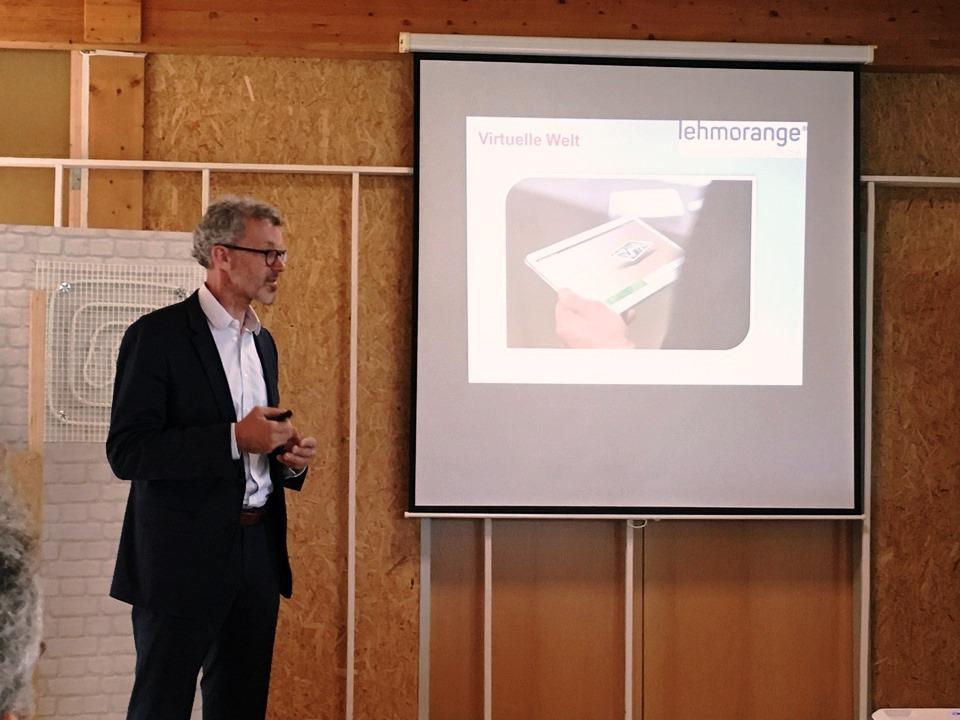 Peter Gmeiner, Geschäftsleiter Firma lehmorange