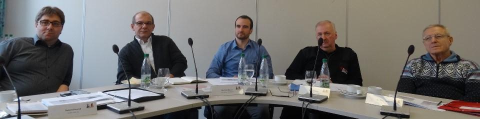 Einige Mitglieder der Arbeitsgruppe (v. l.: Robert Konrad, Manfred Maurer, Tomáš Jirkal, Herbert Putzer, Peter Trstan)