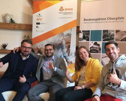 v.l. Dr. Volker Höcht, Kurt Salman, Lucie Valentová, Philipp Hermannsdörfer