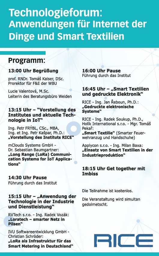 programm Technologieforum IoT